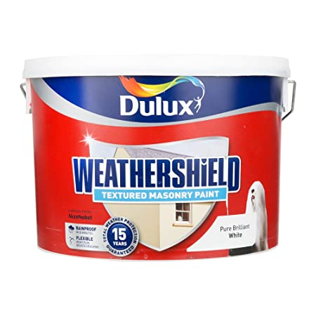 Dulux Weathershield Pure Brilliant White Textured Masonry Paint