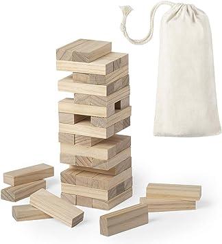 Lote de 20 Juegos Torre Madera 45 Pcs Bloque Jenga en Bolsa Regalo - Juegos Infantiles de Viaje para Detalles de Bodas, Bautizos, Comuniones, Fiestas Cumpleaños: Amazon.es: Juguetes y juegos