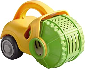 HABA Sand Play Steam Roller and Sieve Construction Vehicle for Beach, Sandbox and Pool - Perfect Sand Play Accessory Toy