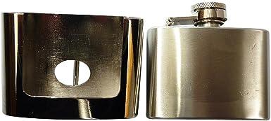 Removeable Hip Flask Belt Buckle Biker Hunting Hunter Drink Pocket Flask