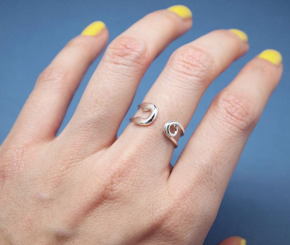 Amazon.com: Big safety pin ring - Adjustable Ring(925 sterling ...