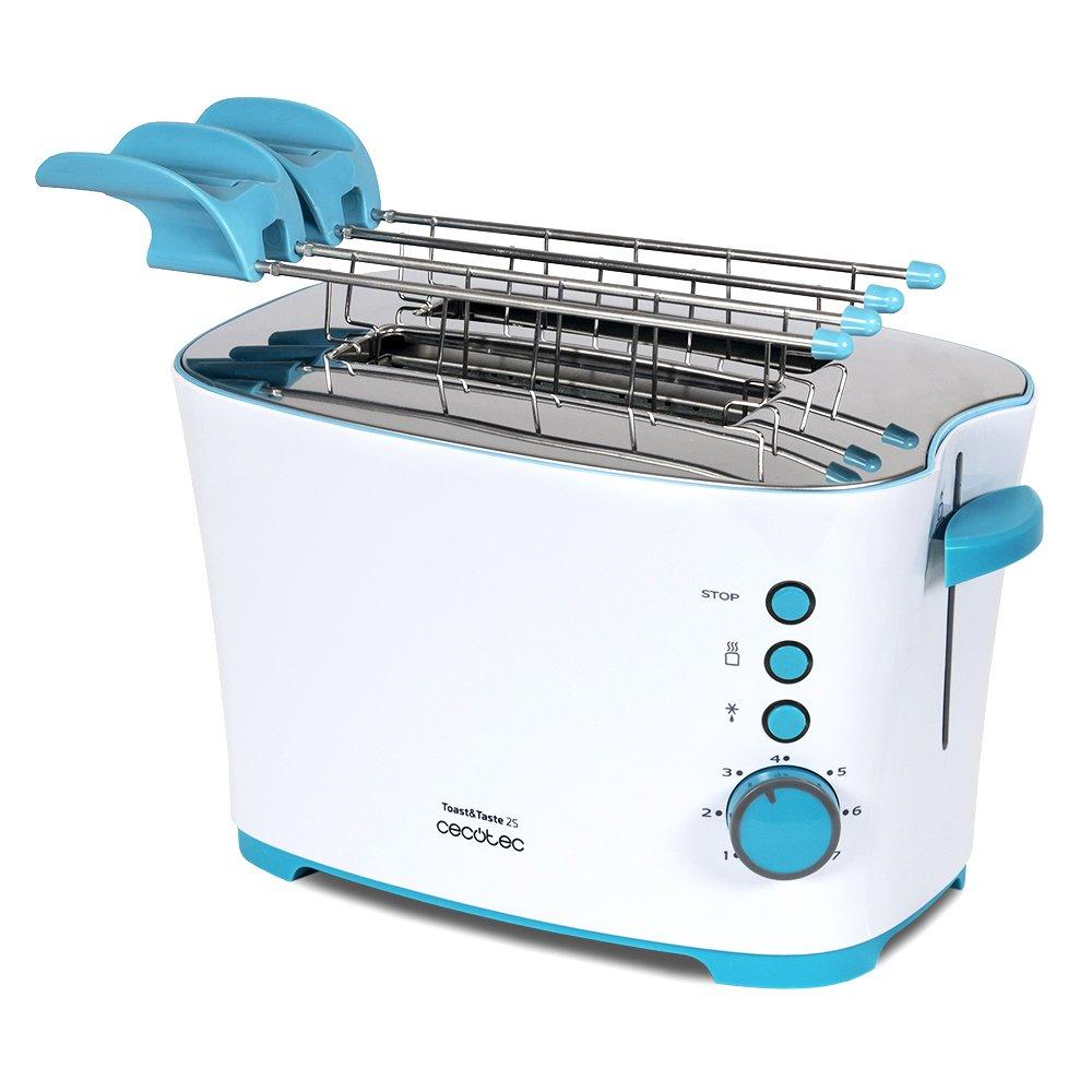 Cecotec Tostadora Toast Taste S Con capacidad para dos tostadas Incluye pinzas
