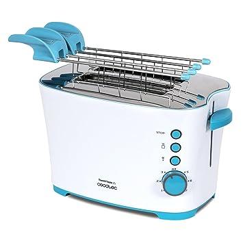 Cecotec Tostadora de Pan Toast&Taste 2S Capacidad para 2, 650 W de Potencia, 7