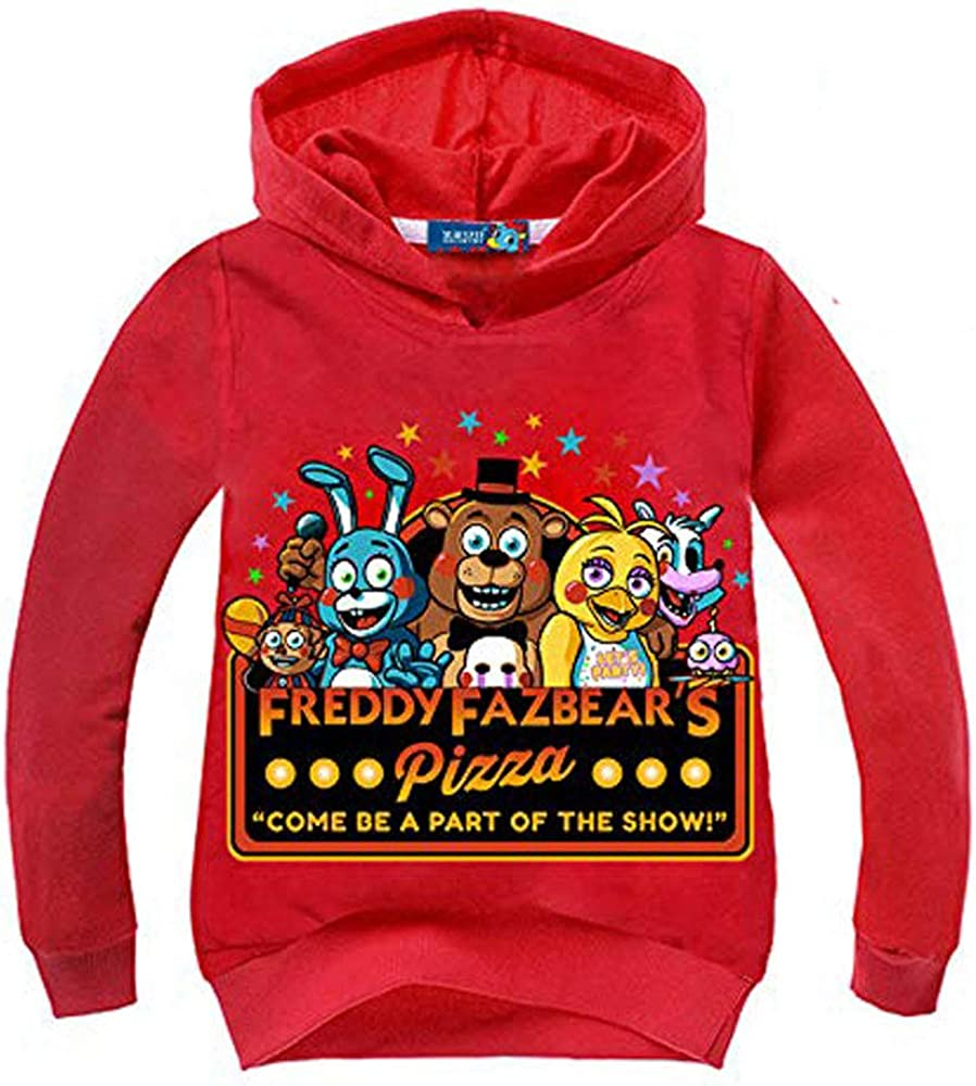 Rollenspiel Kleidung 2 Bis 13 Jahre Alt Kinder Erwachsenen Hoodie 3D-Druck Junge M/ädchen Five Nights Bei Freddy Hoodie Cartoon Sweatshirt Casual Kinderkleidung