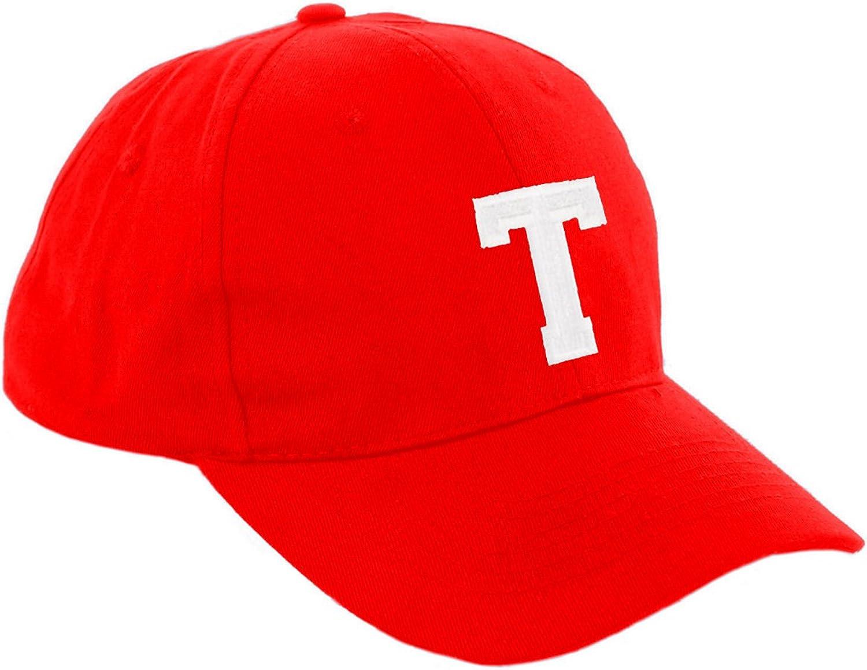 Boy Girl Adjustable Baseball Cap Red Children School Kids Hat Sport Alphabet A-Z MFAZ Morefaz Ltd
