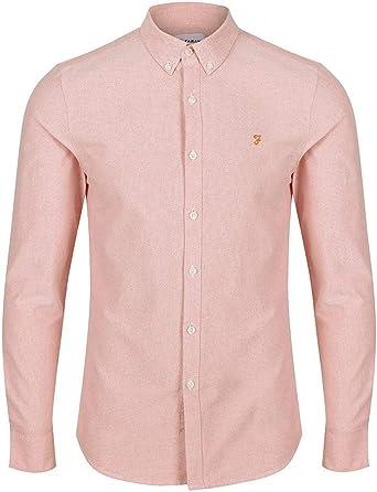 Farah - Camisa Casual - para Hombre Naranja melocotón X Large: Amazon.es: Ropa y accesorios