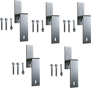 Soporte de pared de acero inoxidable para puerta corredera de barno, 5 unidades: Amazon.es: Bricolaje y herramientas