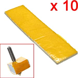 DAOKI 10 Pcs 3mm Thick Heating Block Cotton Nozzle Heat Insulation for 3D Printer