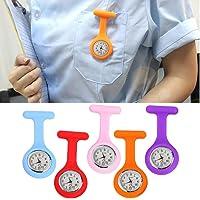 Zehui Relo de enfermería médica del silicón de la Moda, Relojes del dial del Bolsillo de la Broche