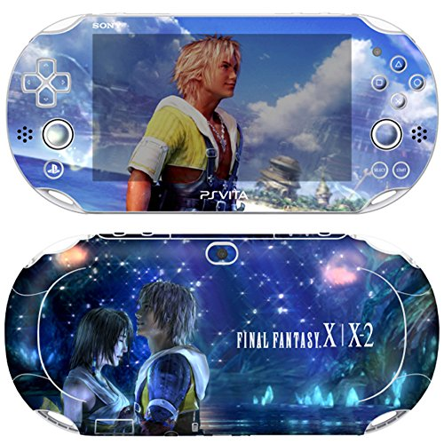 Premium Skin Decals Stickers For PlayStation VITA Slim 2nd Generation PCH-2000 Series Consoles Korea Made - POP SKIN Final Fantasy X | X-2 #08 + Free Gift Screen Protector Film + Wallpaper Screen Image ()