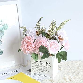 Amazon Kirin Artificial Fake Flowers Plants Silk Rose Hydrangea