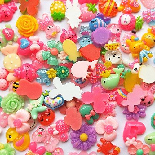 Mosheng Accessory 40pcs Mix Lots Resin Flatback Button Rabbit Cherry Butterfly Art Album Flatback Scrapbooking Embellishments Diy Scrapbooking Craft Accessory