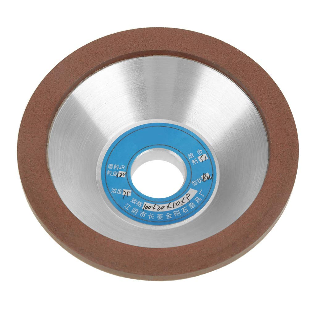 120 Grit Diamond Grinding Wheel Cup, 100mm Diamond Grinding Disc for The Grinding of Brittle Materials Such as Glass, Ceramic, Gems, Stones and Hard Alloys by Vikye
