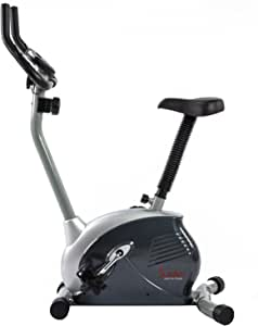 Sunny Health & Fitness Upright Exercise Bike with Electromagnetic Resistance, Device Holder, Programmable Monitor and Pulse Rate Monitoring - SF-B2883 (SF-B2883.)