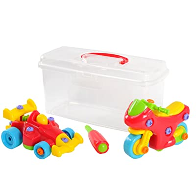 PlayGo Build-It Apprentice Case Motorcycle & Racer Educational Construction Engineering Building Blocks Set for 3 Years & Up: Toys & Games [5Bkhe0804053]