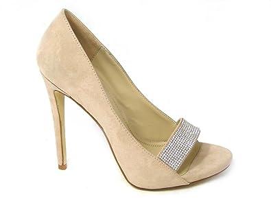 SKO'S Zapatos de Vestir de Material Sintético Para Mujer Beige (1178-9) gj4WT4Wa62