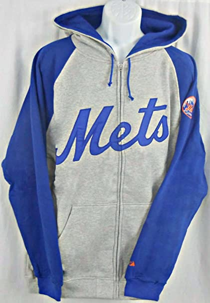 new style 1cd49 14c50 Majestic York Mets Full Zip Embroidered Hoodie Sweatshirt Big & Tall Sizes