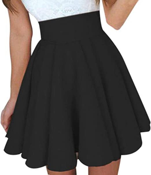 Puppy Party Skater Skirt XS-3XL Stretch Flared Short Skirt