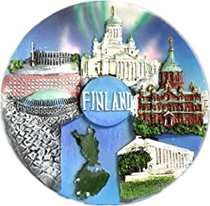 Fridge Magnet Helsinki Finland 3D Resin Handmade Craft Tourist Travel City Souvenir Collection Letter Refrigerator Sticker