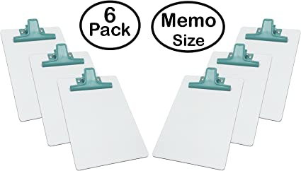 Acrimet Blanc Bloc Notes Mémo Taille Premium Clip En Métal