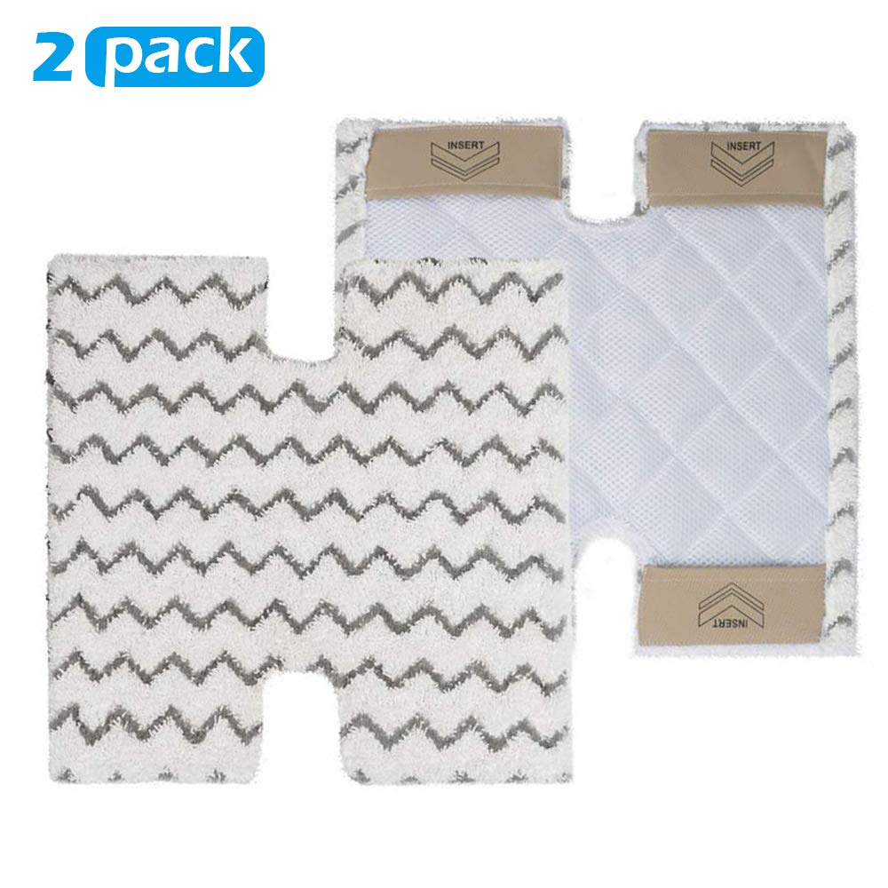 Magicmops XTP184 & P184WQ Steam Mop Pads for Shark Lift Away Pro & Genius S3973 S3973D S3973WM S5002Q S5003A S6001 S6002 S6003 Steam Mop(2 Pack) by Magicmops