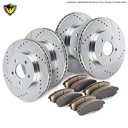 Amazon.com: Duralo Front Rear Brake Pads And Rotors Kit For Nissan Maxima Infiniti I30 2000 2001 - Duralo 153-1202 New: Automotive