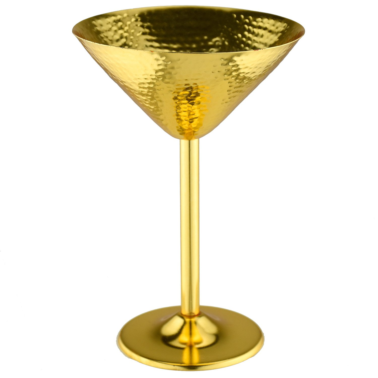 Prince of Scots Martini Glass ~ Hammered Gold