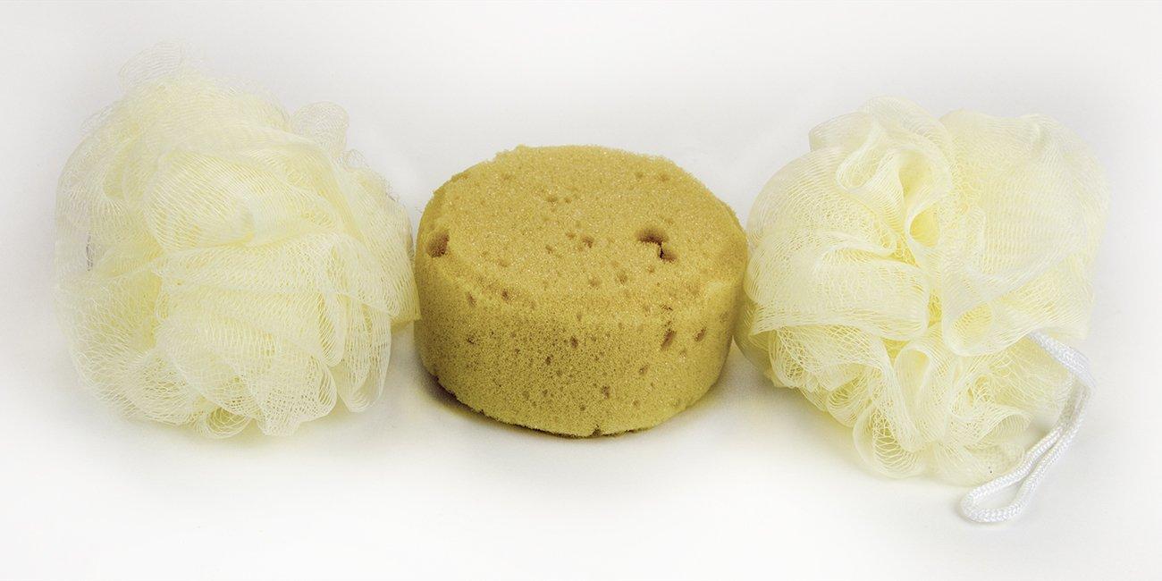 Amazon.com: Best Quality Great Value 3 Piece Set Mesh & Faux Bath Sponges: Home & Kitchen