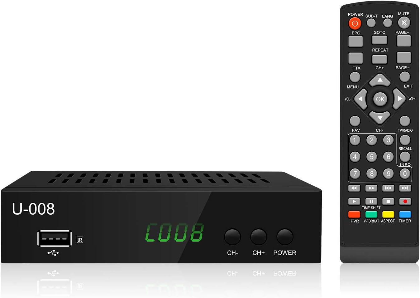 UBISHENG Digital TV Converter Box, 1080P ATSC Digital Converter Box with Recording / Media Player / TV Tuner Function