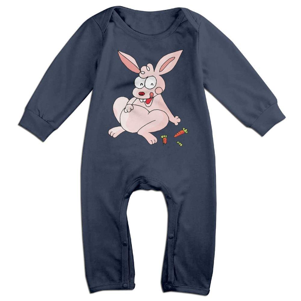 Cartoon Rabbit Long Sleeve Toddler Boys Girls Jumpsuit Cotton Baby Bodysuits