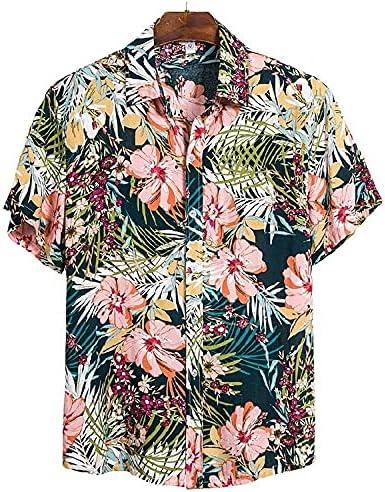 Camisa Hawaiana para Hombre Camisa de Solapa de Manga Corta ...