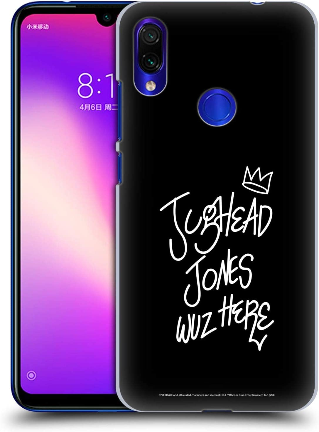 Official Riverdale Jughead Wuz Here Graphic Art Hard Back Case Compatible for Xiaomi Redmi Note 7/7 Pro