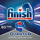 Finish Quantum Max Dishwasher Tablets,  Original, 1 x 80 (80 Tablets)