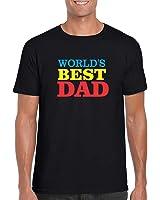 Giftsmate Men's Cotton Dad T-shirt Worlds Best Dad