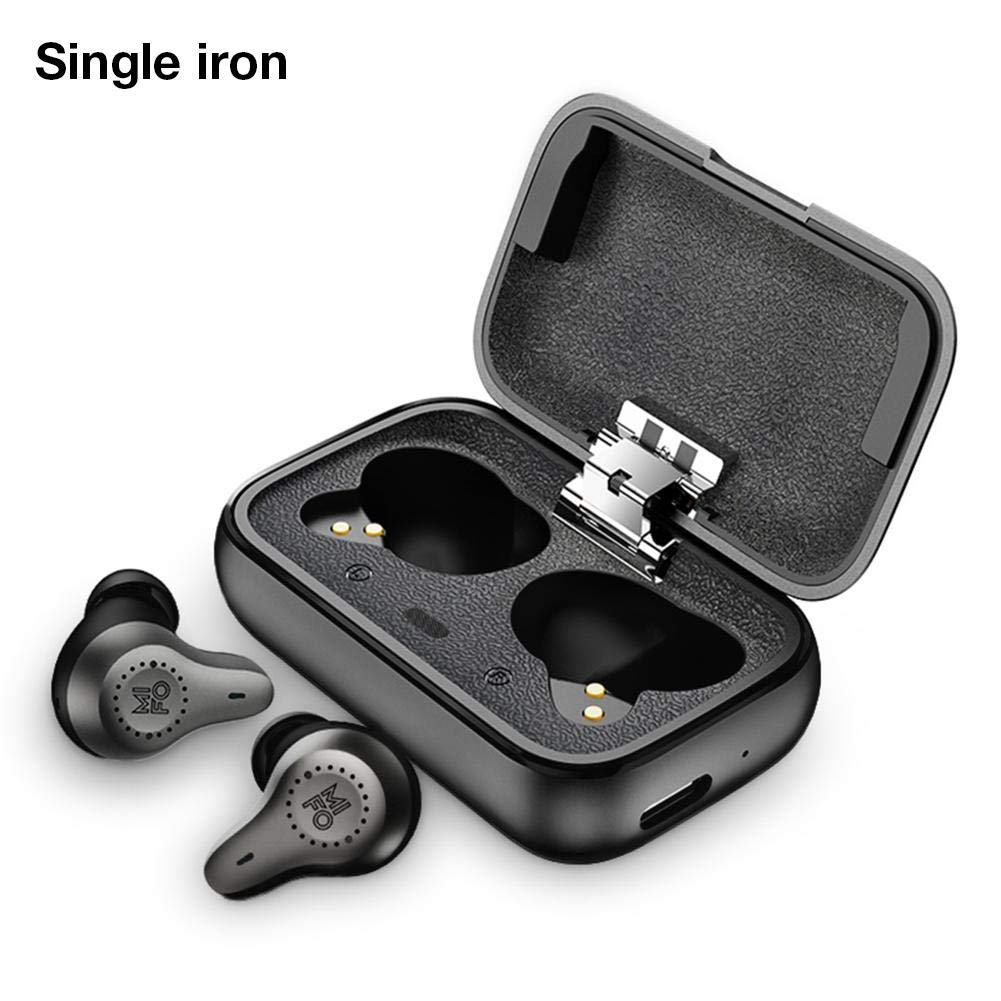 vividesire Bluetooth 5.0 Earphone Earbuds Headphones Mini Wireless Earbuds with Charging Box Sport Single Double Iron IPX7 Waterproof Mobile Phone Universal Smart Touch for Mifo O7 Wonderful