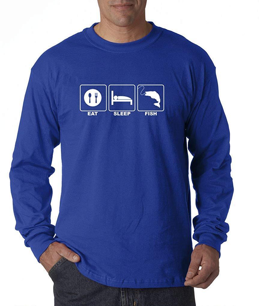 T Shirts Fishing Eat Sleep Fish Funny Bass Fly River Trout T Shirt S 3 6144