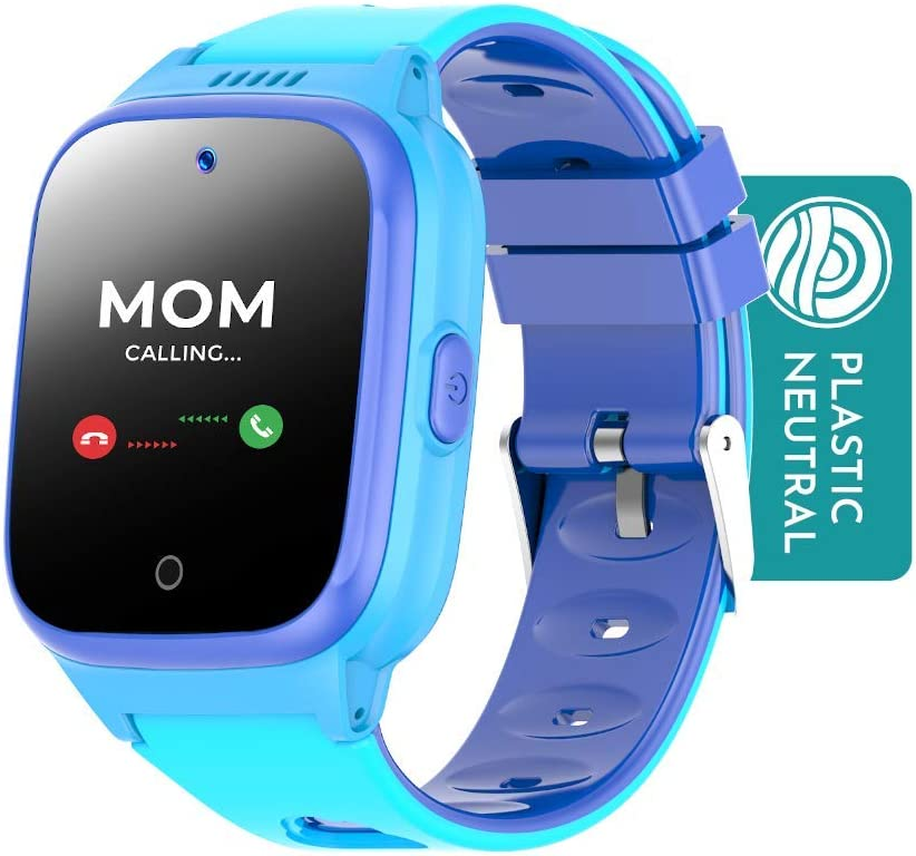 Cosmo JrTrack Kids Smartwatch - Voice and Video Call - GPS Tracker - SOS Alerts - Water Resistant - Blocks Unknown Numbers - SIM Card Included - (Blue)