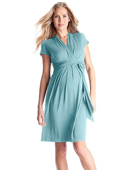 4082d00e8d Seraphine Abbey Wrap Tie Maternity Dress - Seabreeze - 10 at Amazon Women s  Clothing store