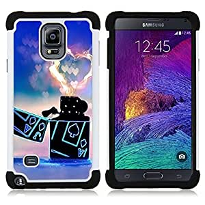 - Lighter Heart - - Fulland Deluxe Hybrid TUFF Rugged Shockproof Rubber + Hard Case Cover FOR Samsung Galaxy Note 4 SM-N910 N910 IV Queen Pattern