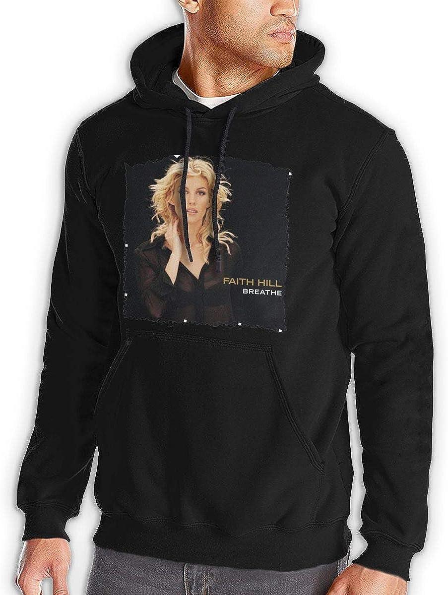 Black Melody Faith Hill Breathe Mens Hooded Pocket Casual Sweater