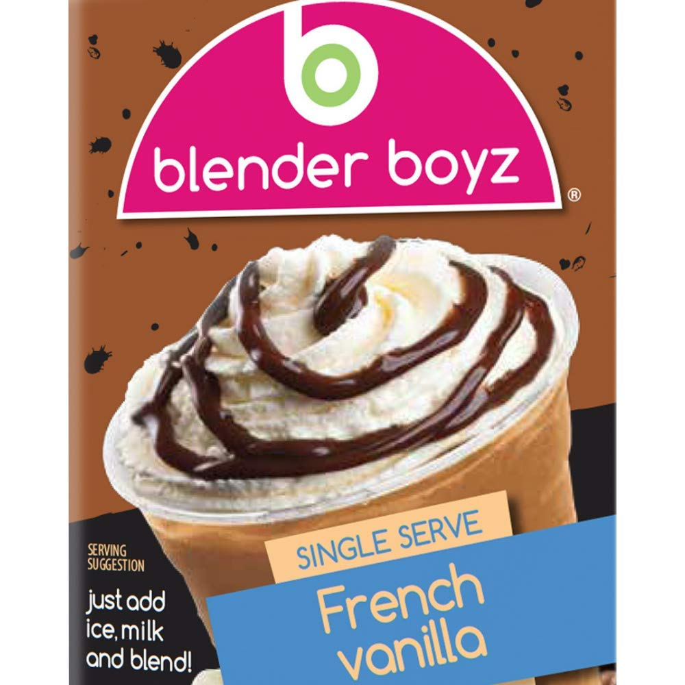 Blender Boyz French Vanilla Iced Cappuccino Single Serve Liquid Mix - Real Coffee Extract, Gluten Free, Dairy Free, Nut Free, Fat Free - 12 Pack