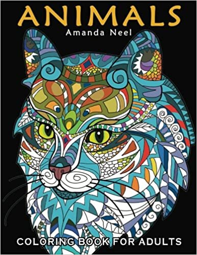 Animals Coloring Book For Adults Happy Amanda Neel 9781519399052 Amazon Books
