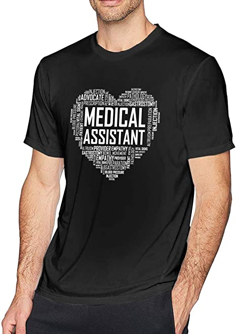 KAYLRR Mens Medical-Assistant-Love-Heart Humor Novedad ...