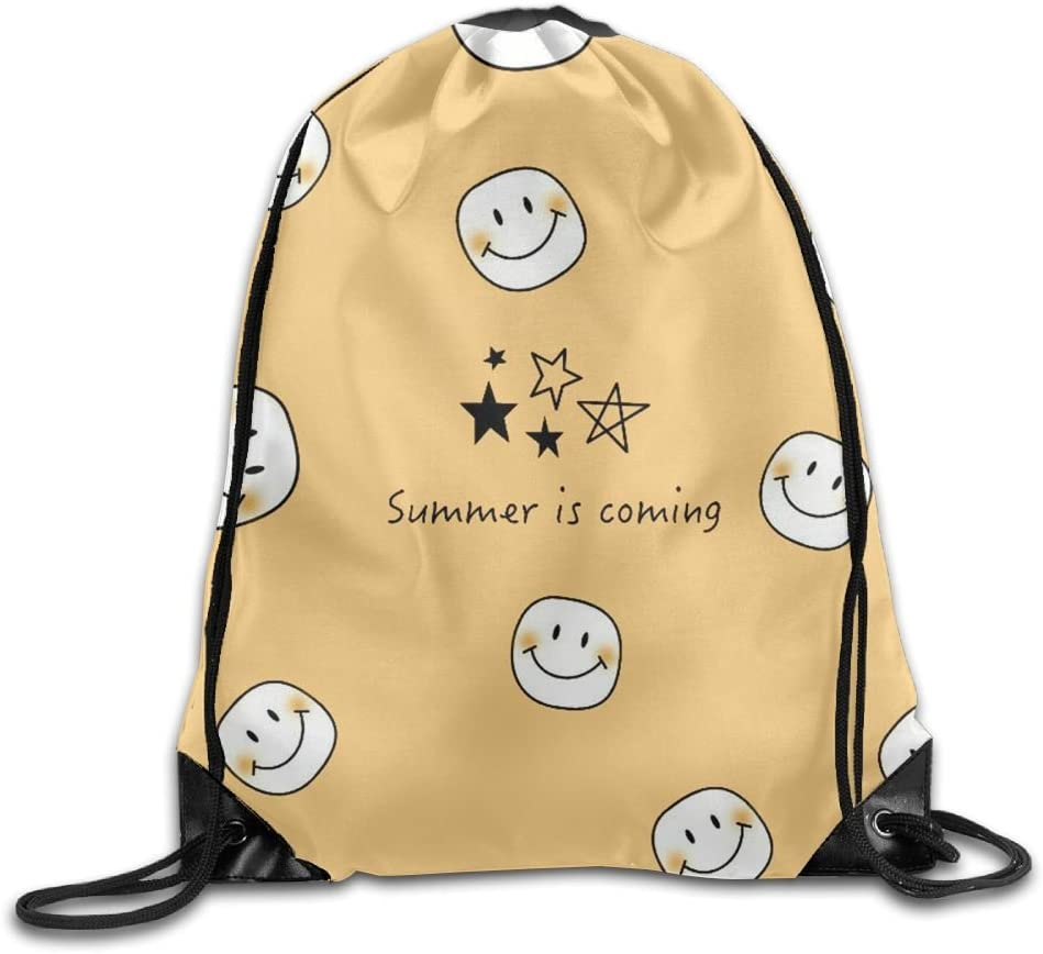 VIMUCIS Smiling Face Drawstring Backpack Rucksack Shoulder Bags Training Gym Sack For Man And Women