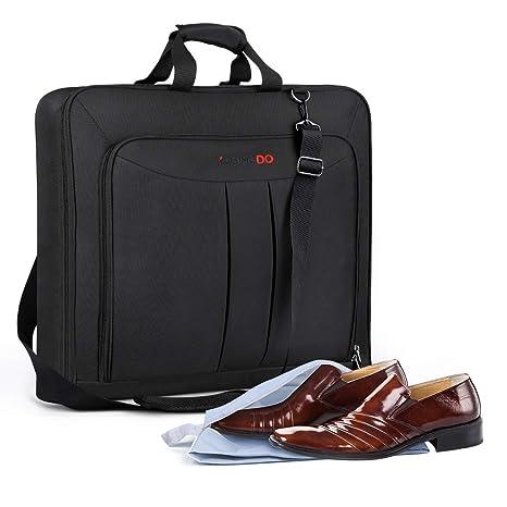 YOUNGDO Bolsa Portatrajes de Viaje, Bolsa Traje Negocios, Bolsa de Viaje Plegable con Bolsa de Zapatos, Bolsa de Viaje de Mano, Funda de Ropa para ...