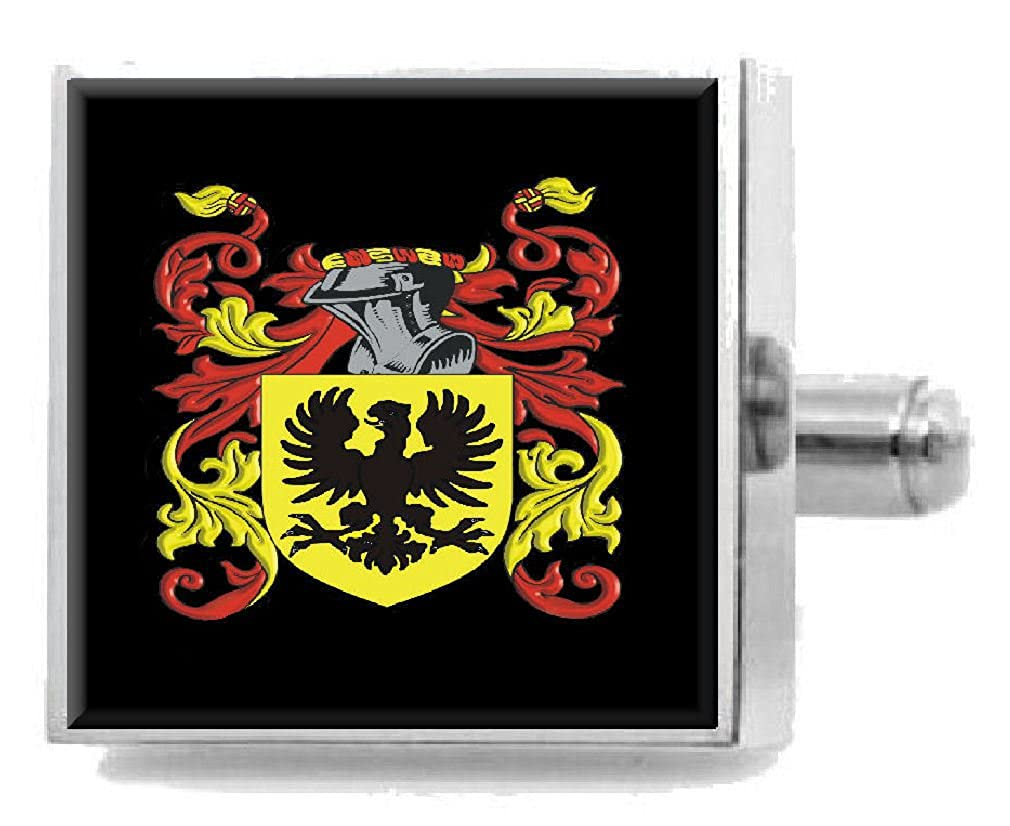 Select Gifts Goodyer England Heraldry Crest Sterling Silver Cufflinks Engraved Message Box