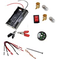 DIY Student Experiment Series-2 in 1 Electrical (3V) Light Bult and Electric Magnet Compass Circuit Educational School…