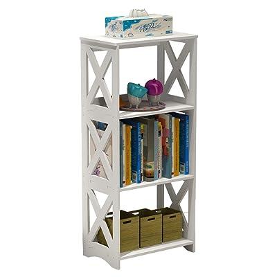 3 Tier White Tall Bookshelf Kids Bookcase Shelving Unit Storage Display Shelves