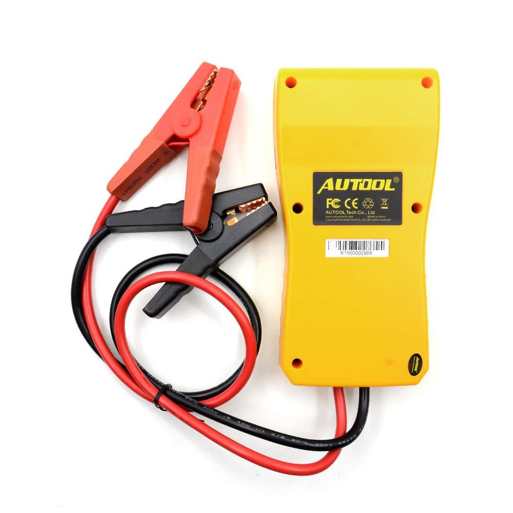 WonVon 12V Car Battery Load Tester and Analyzer,AUTOOL BT660 12V/24V Car Battery System Tester Cranking/Charging Test with Printer for Heavy Duty Trucks Cars ATV by WonVon (Image #9)