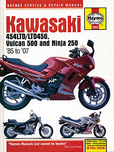 Download Kawasaki 454LTD/LTD450, Vulcan 500 Ninja 250 '85 to '07 (Haynes Service & Repair Manual) pdf